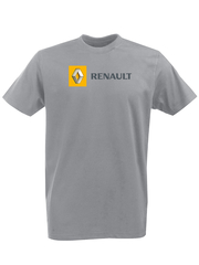 Футболка с принтом Рено (Renault) серая 001
