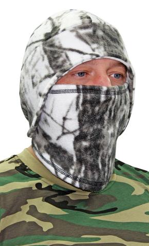 Шапка- маска Снегоход тк.Флис цв. Белый Лес