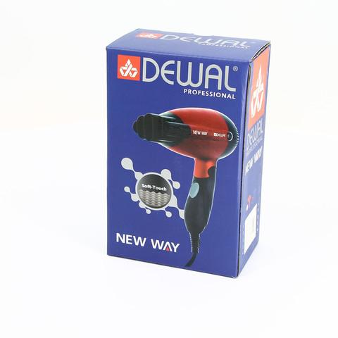 Фен дорожный складной Dewal New Way, 1000 Вт, 1 насадка, красный