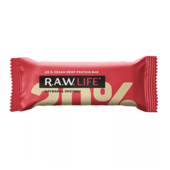 R.A.W Life орехово-фруктовый батончик Клубника протеин 47 гр