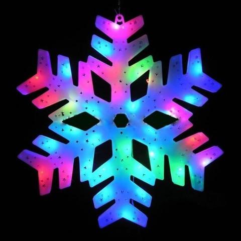 Светодиодная подвесная фигура Снежинка 2