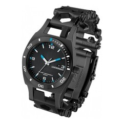 Часы-мультитул Leatherman Tread Tempo LT Black, узкий, 28 функций (832517) цвет чёрный   Multitool-Leatherman.Ru