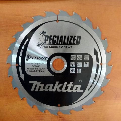 Пильный диск для дерева EFFICUT, 260x30x1.5x24T