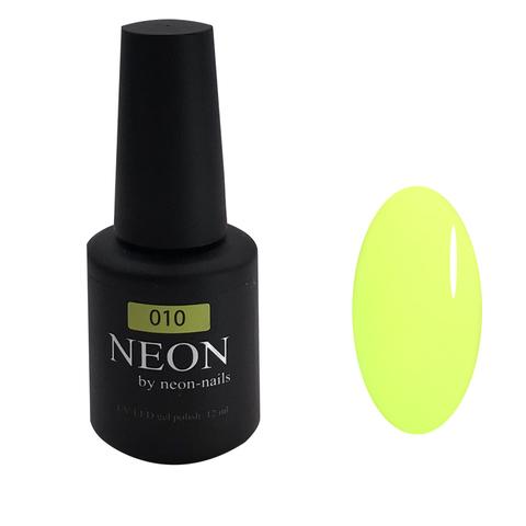 NEON, гель-лак Lime № 010 , (12 ml) неоновый лимонный