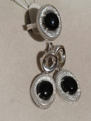 Рандела (кольцо + серьги из серебра)