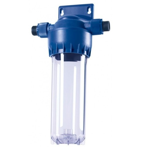 Предфильтр для холодной воды Аквафор с прозрачным корпусом.