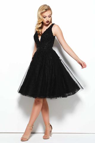 Mac Duggal 1145 Платье с расшитым лифом, пышной юбкой,цвет:черный