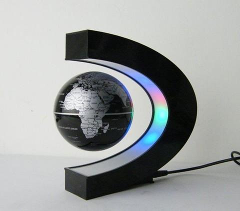 Левитирующий глобус (чёрный)