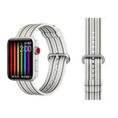 Ремешок COTEetCI W30 Nylon Rainbow Band (WH5251-WG-40) для Apple Watch 38мм/ 40мм Бело-Графитовый
