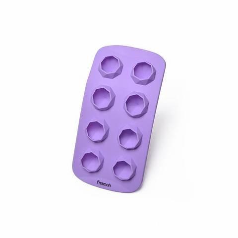 """6566 FISSMAN Форма для льда и шоколада """"Брилланты"""" 8 яч./ 21x10,5x2,5 см, силикон,  купить"""