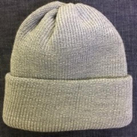 Зимняя объемная шапка бини с отворотом