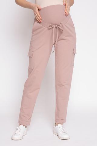 Спортивные брюки для беременных 12355 бежевый