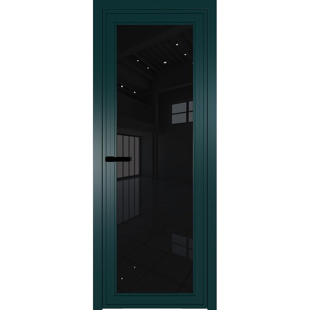Новинки Межкомнатная алюминиевая дверь Profil Doors AGP 1 зелёный матовый RAL 6004 стекло триплекс чёрный 1AGP_zelenaya_tripleks_chernyy.jpg