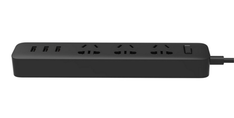 Удлинитель Xiaomi Mi Power Strip 3 (XMCXB01QM) черный, 1.8 м