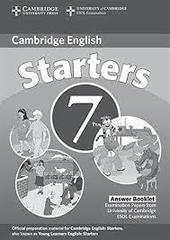 C Young Learners Eng Tests 7 Starters Answer Booklet