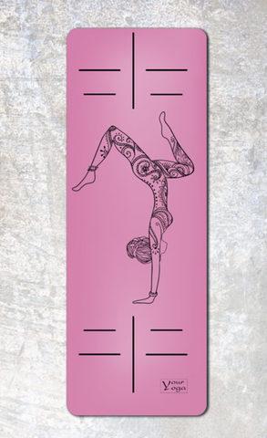 Каучуковый коврик для йоги HandStand 183*65*0,2-0,4 см