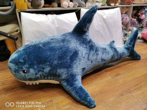 Акула гигантская 120 см мягкая игрушка