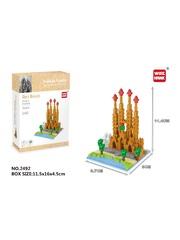 Конструктор Wisehawk & LNO Саграда Фамилия 364 детали NO. 2492 Sagrada Familia Gift Series