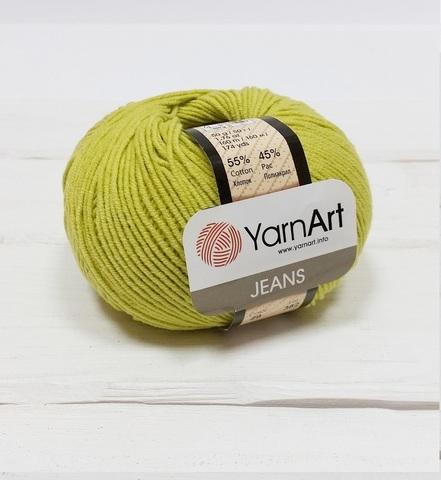 Пряжа YarnArt JEANS - (29-зелёный горошек)