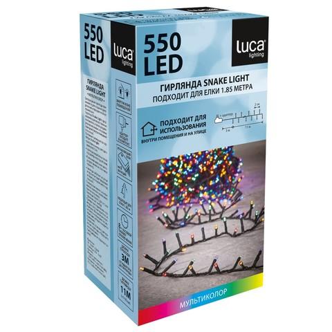 Гирлянда Luca Lighting мультиколор (550 ламп, длина гирлянды 1100 см) для ёлки 185 см