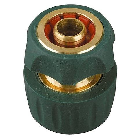 Cоединитель быстросъемный для шланга, из латуни с TPR 1/2 с автостопом, RACO