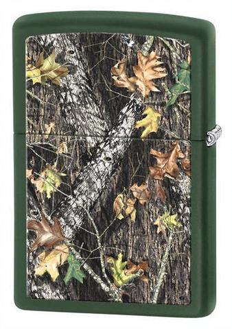 Зажигалка Zippo с покрытием Green Matte, латунь/сталь, зелёная, матовая, 36x12x56 мм