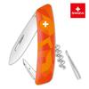 Уценка! Швейцарский нож SWIZA C01 Camouflage, 95 мм, 6 функций, оранжевый
