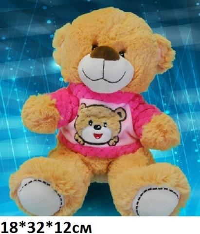 Н024 Медведь в кофте с вышивкой №2 18х32х12см