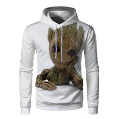 Толстовка 3D принт, Грут, Стражи Галактики, Марвел (3Д Худи Groot, Guardians of the Galaxy, Marvel) 01