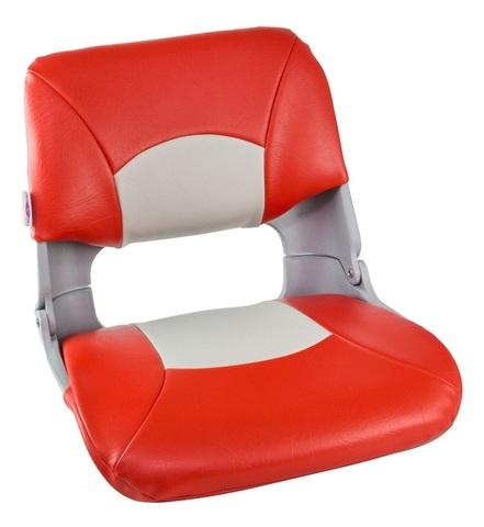 Сиденье мягкое складное Skipper, красно-серое