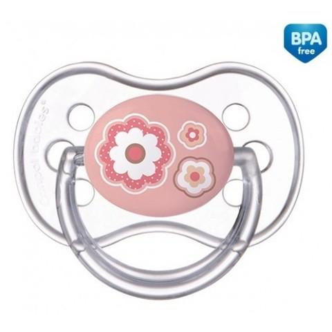 Canpol. Пустышка круглая силиконовая Newborn baby 0-6 мес, розовый