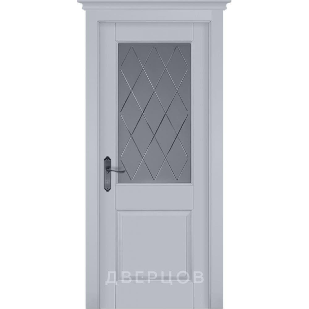 Двери из массива дерева Дверь Элегия эмаль грей стекло графит с фрезеровкой elegiya-grey-emal-po-krlogodvertsov.jpg