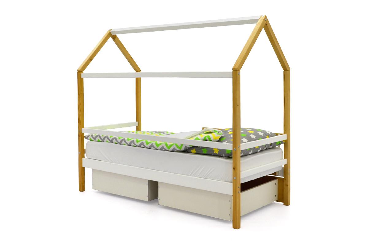 Кровать-домик «Svogen дерево-белый»