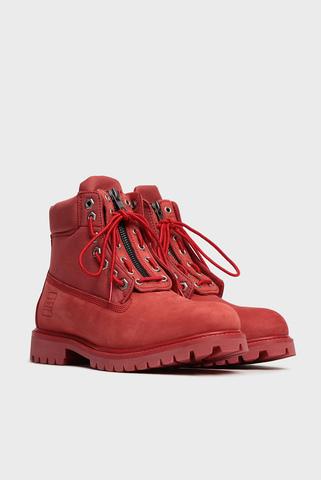 Женские красные кожаные ботинки Emmi Farra Preppy