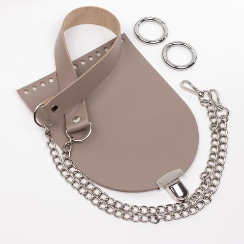 """Комплект для сумочки Орео """"Мускат"""". Ручка с цепочкой и замок """"N12"""""""