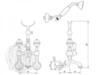 Смеситель для ванной Migliore Cristalia Swarovski ML.CRS-3702 схема