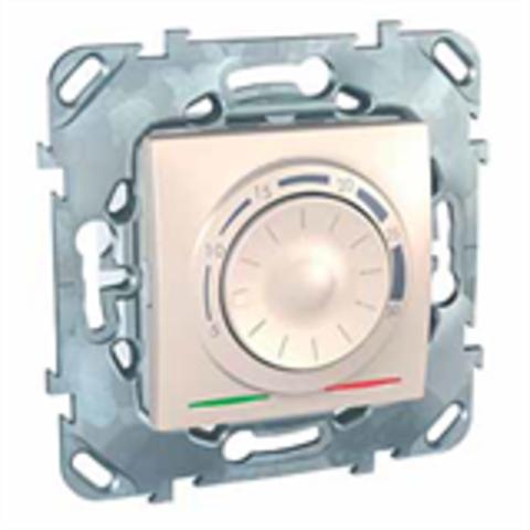 Терморегулятор. Цвет Бежевый. Schneider electric Unica. MGU5.501.25ZD