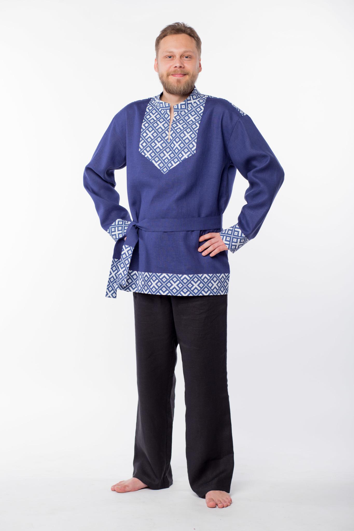 Мужская льняная рубаха Забайкальская