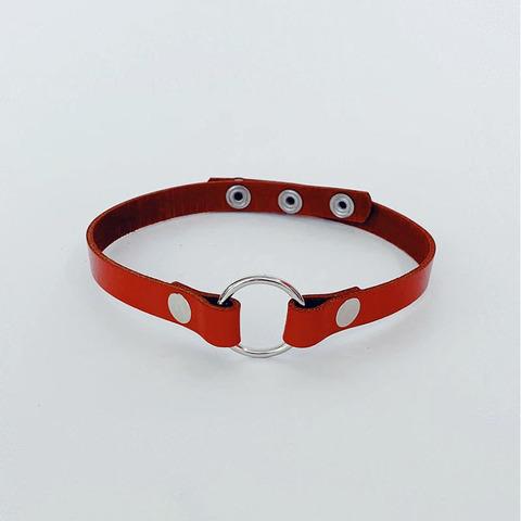 Isy Mo Чокер с кольцом (красный)