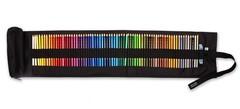 Набор художественных цветных карандашей POLYCOLOR 72 цвета с металлической точилкой, ластиком и со съемным пеналом-косметичкой в черном текстильном пенале-рулоне на липучке