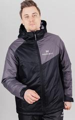 Утеплённая прогулочная лыжная куртка Nordski Premium Sport Grey/Black мужская