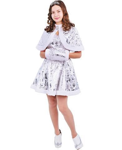 Карнавальный костюм взрослый  Снегурочка Хрустальная