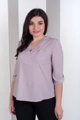 Ванда. Оригінальна жіноча блуза великих розмірів. Рожевий принт
