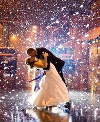 Картина раскраска по номерам 40x50 Поцелуй влюбленных под снегом