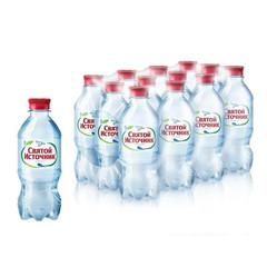 Вода питьевая Святой Источник газированная 0.33 л (12 штук в упаковке)