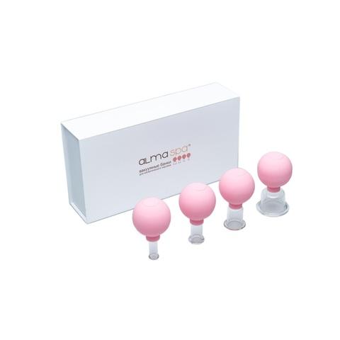 ALMASPA Вакуумные банки для косметического массажа (розовые), 4 шт