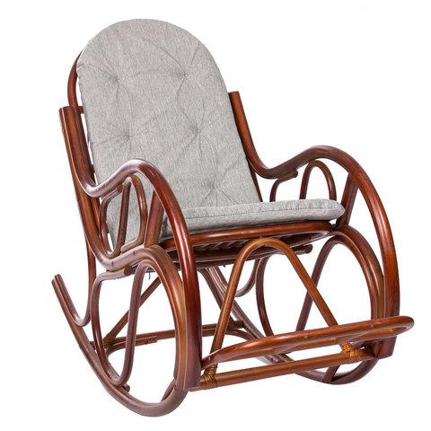 Кресло-качалка МИ «Classic» с подушкой, коньяк