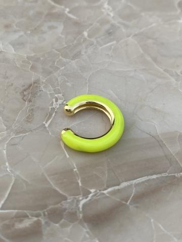 Кафф из позолоченного серебра и желтой эмали