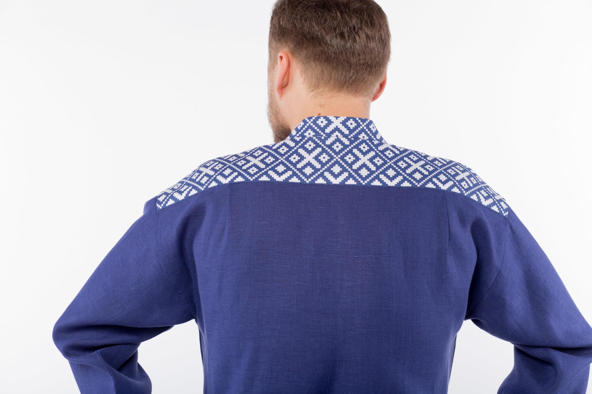 Мужская льняная рубаха Забайкальская кокетка спинки