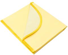 Колорит. Клеенка ПВХ в кроватку 70х100 см на резинке с окантовкой, цветная желтый вид 3